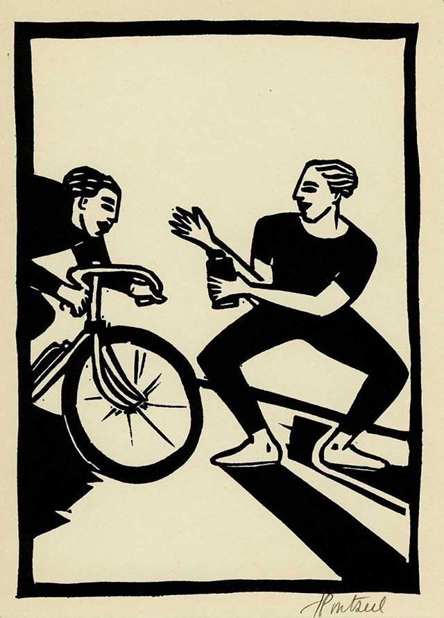 Linogravure-nb-Cycliste