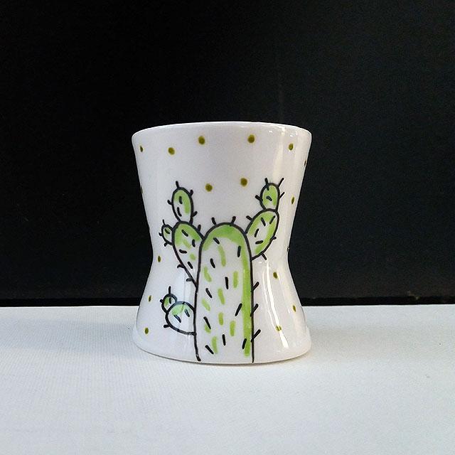 Porcelaine-Coquetier Cactus