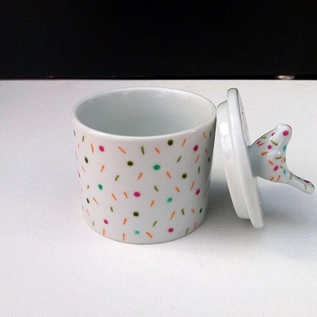 Porcelaine-Boite a Bijoux Confettis