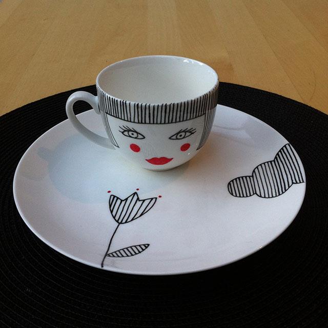 Porcelaine-Set Petit Dejeuner Nana-Nono