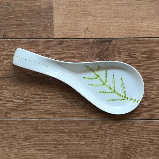 Porcelaine-Porte Cuillère Végétal