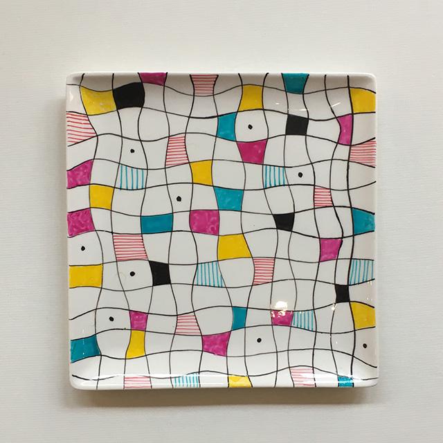Porcelaine-Vide-Poches Mosaique