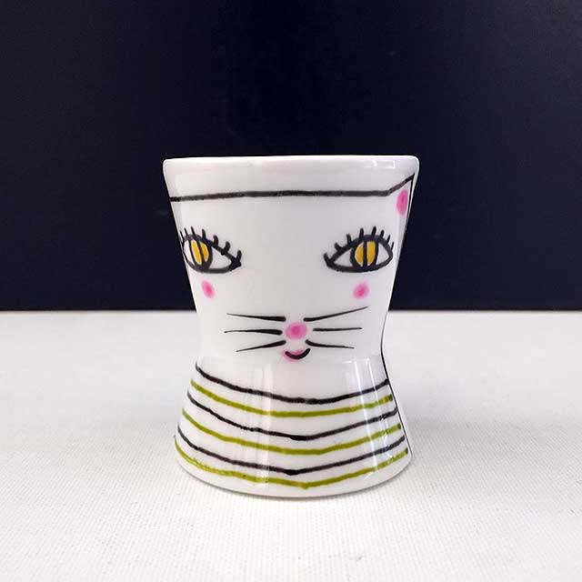 Porcelaine-Coquetier Chat