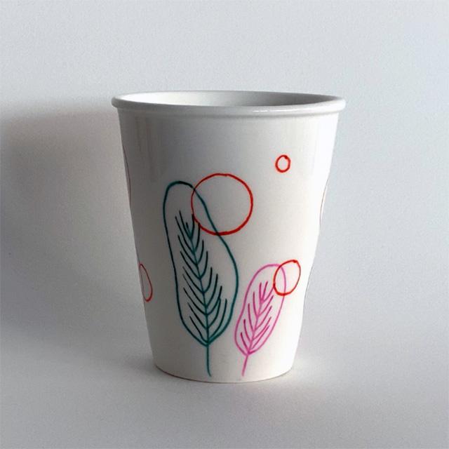 Porcelaine-Tasse Sous-tasse Circus