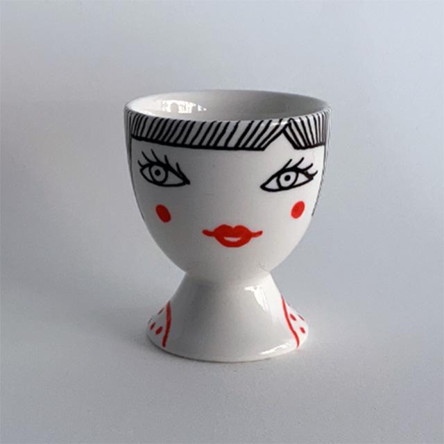 Porcelaine-Coquetier Nana-Nono (Nana Noir)
