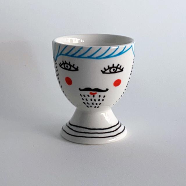 Porcelaine-Coquetier Nana-Nono (Nana Bleu)