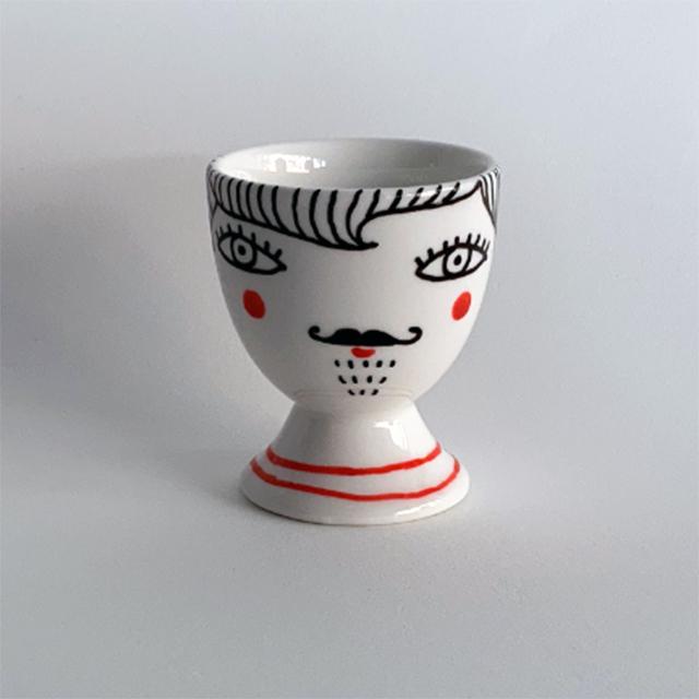 Porcelaine-Coquetier Nana-Nono (Nono Bleu)